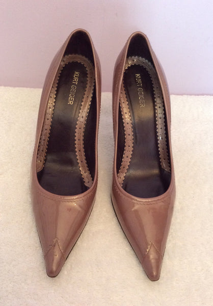Kurt Geiger Brown Patent Leather Heels Size 5/38 - Whispers Dress Agency - Womens Heels - 1