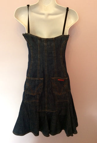 Dolce & Gabbana Blue Denim Mini Dress Size 40 UK 8 - Whispers Dress Agency - Sold - 2