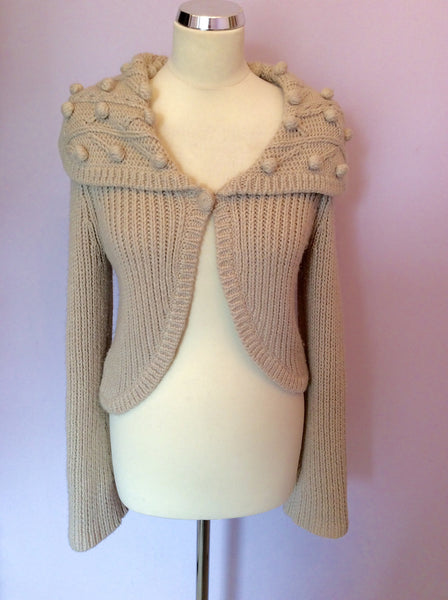 Laura Ashley Beige Cardigan Size S - Whispers Dress Agency - Womens Knitwear - 1