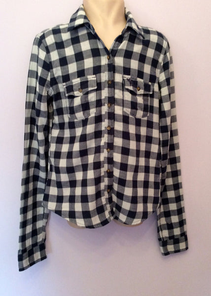 Abercrombie & Fitch Blue Check Cotton Shirt Size L - Whispers Dress Agency - Sold - 1