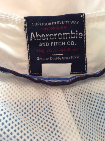 "Abercrombie & Fitch White Stripe Trim Swim Shorts Size 30"" - Whispers Dress Agency - Mens Swim & Beachwear - 3"
