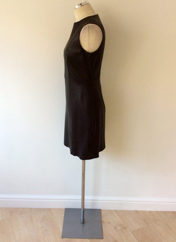 BRAND NEW CELINE BLACK LEATHER DRESS SIZE 42 UK 12 - Whispers Dress Agency - Womens Dresses - 3