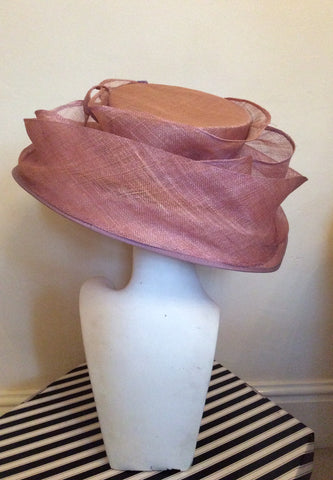 Occasions By Failsworth Millinery Dusky Pink & Lilac Flower Trim Formal Hat - Whispers Dress Agency - Womens Formal Hats & Fascinators - 3