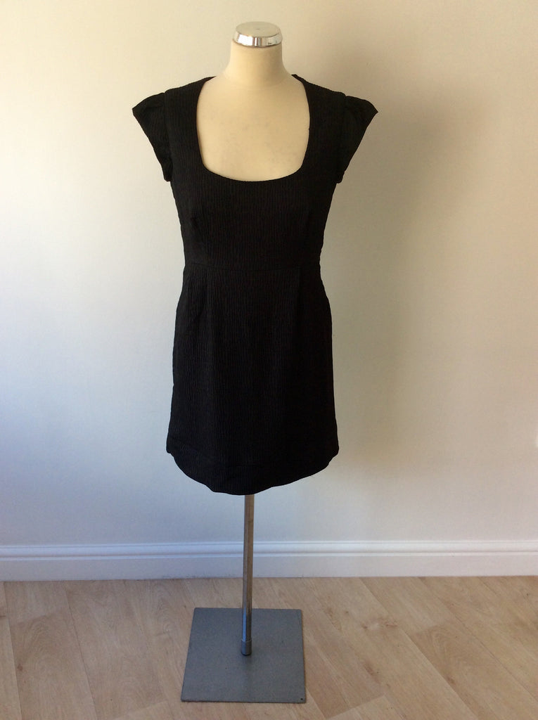 French Connection Black Cap Sleeve Dress Size 12 Whispers Dress Agency
