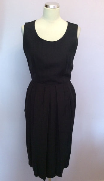 Vintage Jaeger Black Sleeveless Dress Size 10 - Whispers Dress Agency - Sold - 1