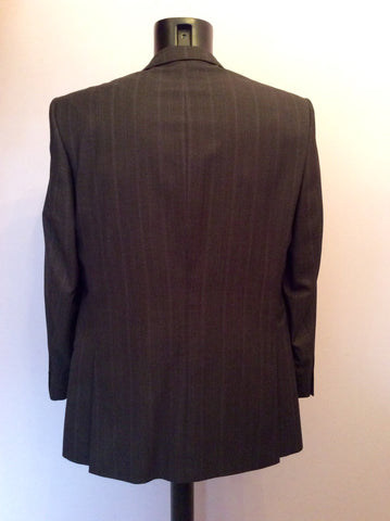 Studio By Jeff Banks Dark Charcoal Grey Pinstripe Wool Suit Size 40/34 Short - Whispers Dress Agency - Mens Suits & Tailoring - 4