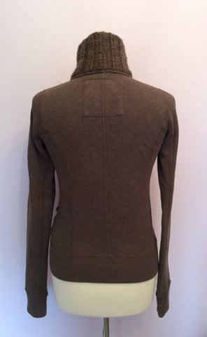 Abercrombie & Fitch Brown Zip & Button Fasten Cardigan Size S - Whispers Dress Agency - Womens Activewear - 2