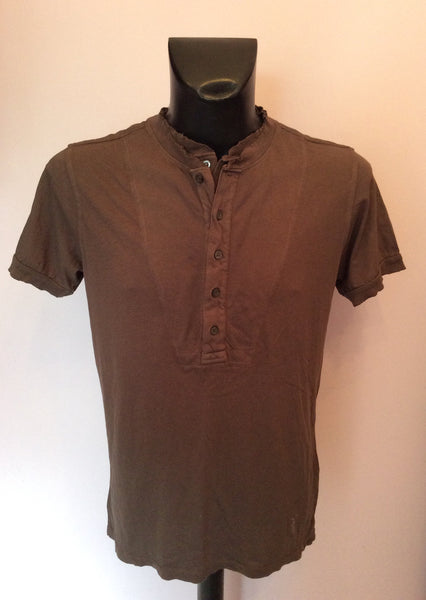 All Saints Anonymous Brown Polo Shirt Size M - Whispers Dress Agency - Sold - 1