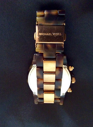 Michael Kors Rose Gold & Tortoise Shell Watch - Whispers Dress Agency - Womens Jewellery - 3