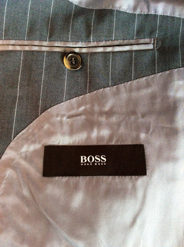 Hugo Boss Grey Pinstripe Wool Suit Size 38R /36W - Whispers Dress Agency - Mens Suits & Tailoring - 5