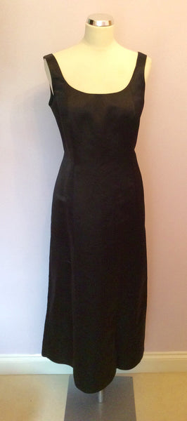 Laura Ashley Black Silk Evening Dress Size 16 - Whispers Dress Agency - Sold - 1