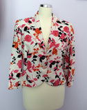 Peter Martin Floral Print Linen Skirt & Jacket Suit Size 12 - Whispers Dress Agency - Womens Suits & Tailoring - 2