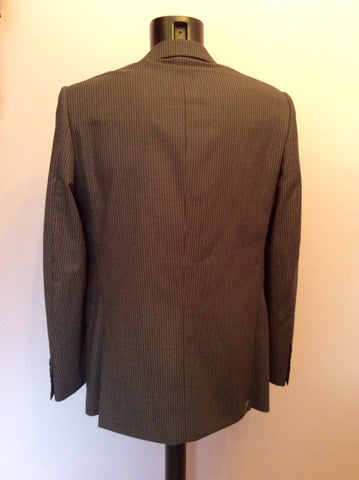 Brand New Jaeger Grey Pinstripe 'Mayfair' Wool Suit Jacket Size 40R - Whispers Dress Agency - Mens Suits & Tailoring - 4