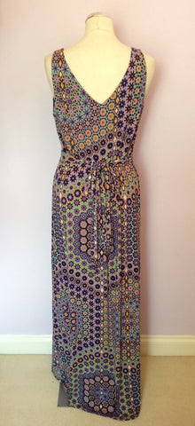 Brand New Monsoon Purple Print Maxi Dress Size 14 - Whispers Dress Agency - Sold - 2