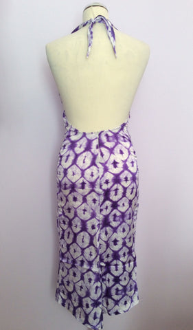 Joseph Purple & White Print Silk Halterneck Top Dress Size S - Whispers Dress Agency - Sold - 3