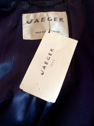 Brand New Jaeger Dark Blue Wool & Cashmere Jacket Size 18/20 - Whispers Dress Agency - Sold - 4