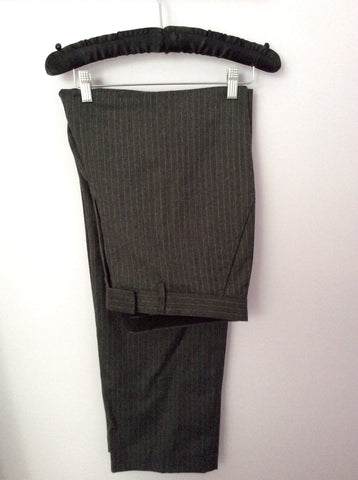 Smart FCUK Formal Grey Pinstripe 100% Wool Suit Size 44R/38W - Whispers Dress Agency - Mens Suits & Tailoring - 4