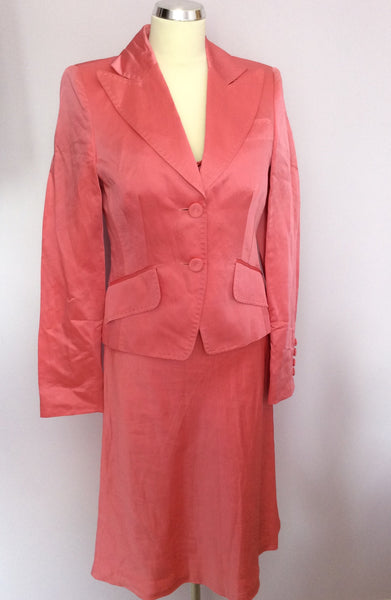 Laurel Pink Beaded Trim Linen Blend Dress & Jacket Suit Size 8 - Whispers Dress Agency - Womens Special Occasion - 1