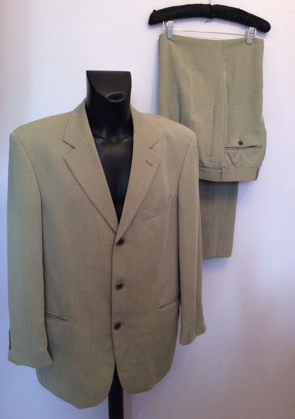Hugo Boss Fawn Wool Blend Suit Size 46R/ 32W /36L - Whispers Dress Agency - Mens Suits & Tailoring - 1