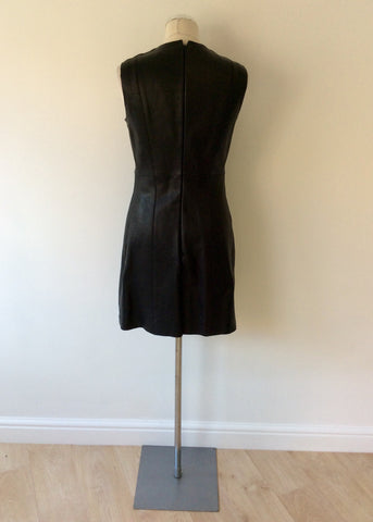 BRAND NEW CELINE BLACK LEATHER DRESS SIZE 42 UK 12 - Whispers Dress Agency - Womens Dresses - 5