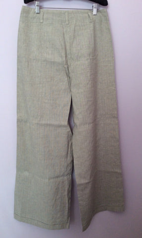 Annette Gortz Light Grey Pinstripe Linen Blend Trouser Suit Size 40/44 UK 14/18 - Whispers Dress Agency - Womens Suits & Tailoring - 6