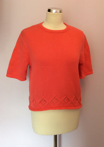 Vintage United Colours Of Benetton Coral Short Sleeve Jumper Size M - Whispers Dress Agency - Womens Vintage - 1