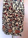 Laura Blue, Red & White Print Embroidered Tea Dress Size S - Whispers Dress Agency - Womens Dresses - 4