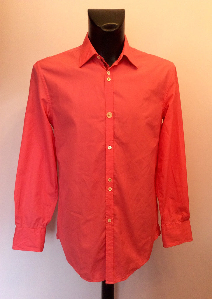 1198aadd Kenzo Homme Bright Pink Cotton Shirt Size 15.5