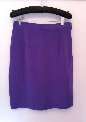 Brand New August Silk Sport Purple Silk Skirt Suit Size L - Whispers Dress Agency - Womens Suits & Tailoring - 4