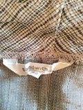 SANDWICH BROWN CHECK CARDIGAN & MATCHING SCARF SIZE 42 UK 14 - Whispers Dress Agency - Womens Tops - 4