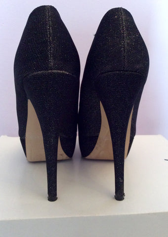 Aldo Vannice Black Sparkle Peeptoe Platform Sole Heels Size 5/38 - Whispers Dress Agency - Womens Heels - 4