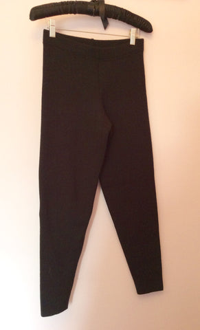 Vintage Jaeger Black Wool Blend Fine Knit Leggings Size S - Whispers Dress Agency - Womens Vintage - 1
