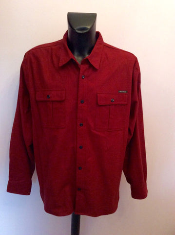 Field & Steam Burgundy Brushed Cotton Shirt Size XXL - Whispers Dress Agency - Mens Casual Shirts & Tops - 1