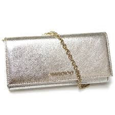 Brand New Jimmy Choo Nikita Champagne Glitter Wallet - Whispers Dress Agency - Clutch Bags - 1