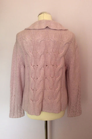 Zucchero Lilac Cable Knit Zip Front Cardigan Size XL - Whispers Dress Agency - Womens Knitwear - 2