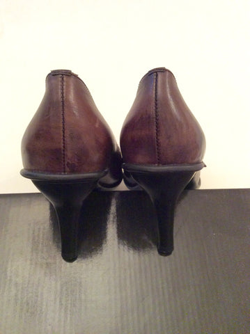 Brand New Moda In Pelle Brown Leather Heels Size 4/37 - Whispers Dress Agency - Womens Heels - 3