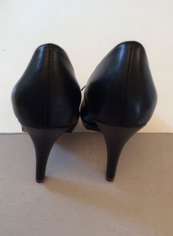 BRAND NEW FRENCH CONNECTION BLACK LEATHER HEELS SIZE 3.5/36 - Whispers Dress Agency - Womens Heels - 4