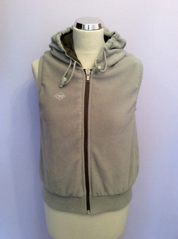 Reversible Diesel Khaki & Beige Zip Up Gilet Size S - Whispers Dress Agency - Womens Gilets & Body Warmers - 3