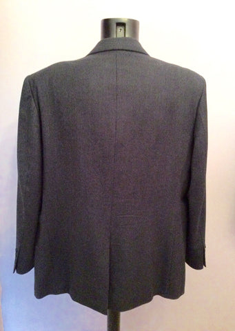 Marks & Spencer Navy Blue Wool & Cashmere Suit Jacket Size 46 - Whispers Dress Agency - Mens Suits & Tailoring - 2