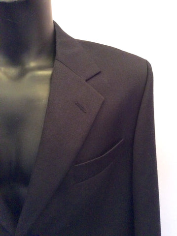 Yves Saint Laurent Black Wool Suit Jacket Size 42L - Whispers Dress Agency - Mens Suits & Tailoring - 4