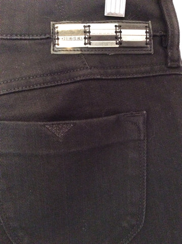 Brand New Diesel Black Livy Super Slim Straight Jeans Size 28W/32L - Whispers Dress Agency - Womens Jeans - 3
