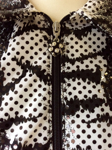 JOSEPH RIBKOFF BLACK & WHITE PRINT TOP & JACKET SIZE 16 - Whispers Dress Agency - Sold - 3