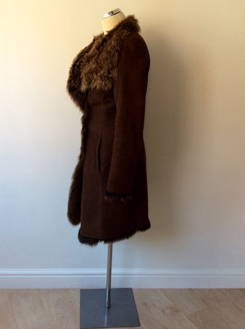 JOSEPH DARK BROWN LAMBSKIN COAT SIZE 40 UK 12 - Whispers Dress Agency - Womens Coats & Jackets - 5