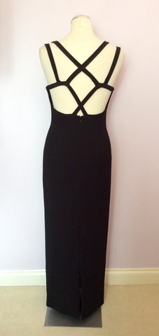 Brand New After Six By Roland Joyce Black Strappy Long Evening Dress Size 10 - Whispers Dress Agency - Womens Dresses - 3