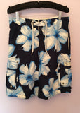 Abercrombie & Fitch Blue & White Floral Swim Short Size S - Whispers Dress Agency - Mens Swim & Beachwear - 1