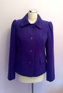 Marks & Spencer Purple Jacket Size 8 - Whispers Dress Agency - Womens Coats & Jackets - 1