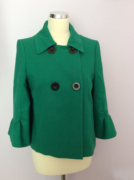 Betty Jackson Emerald Green Jacket Size 10 - Whispers Dress Agency - Womens Coats & Jackets - 1