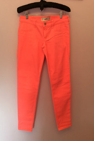 New Hollister Neon Orange Jeans Size 27W/29L - Whispers Dress Agency - Womens Jeans - 1