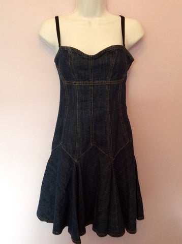 Dolce & Gabbana Blue Denim Mini Dress Size 40 UK 8 - Whispers Dress Agency - Sold - 1