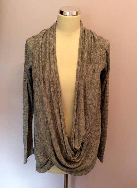Religion Grey Cowl Neck Cardigan Size 10/S - Whispers Dress Agency - Sold - 1